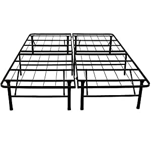 Classic Brands Hercules Heavy-Duty 14-Inch Platform Metal Bed Frame | Mattress Foundation, Twin XL