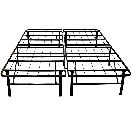 Classic Brands Hercules Heavy-Duty 14-Inch Platform Metal Bed Frame | Mattress Foundation, King (Bed Traditional King)