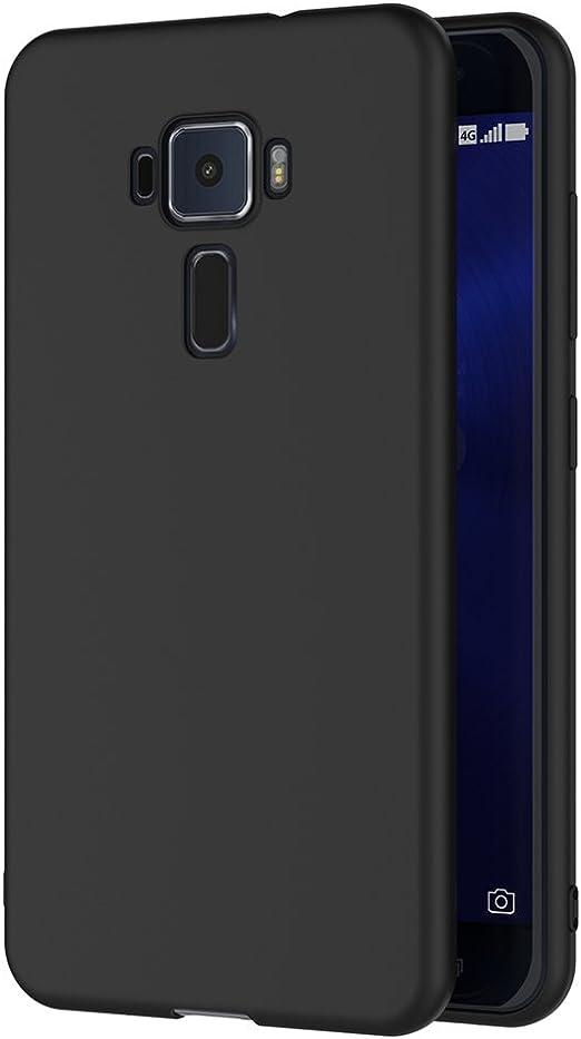 AICEK Funda ASUS ZenFone 3 ZE520KL, Negro Silicona Fundas para ...