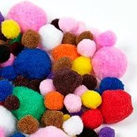 Artstraws –Pom Pom para manualidades, Colores y tallas