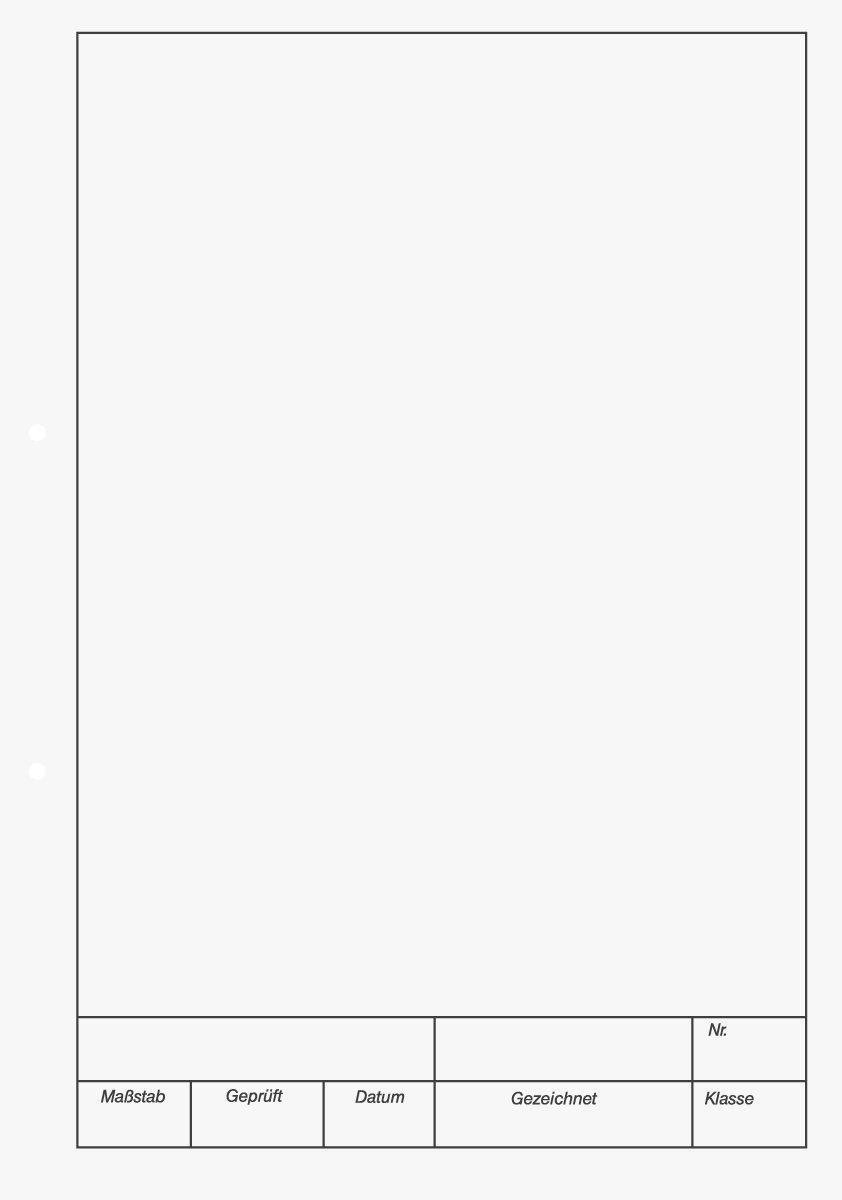 Brunnen 1042237 KIESER-Zeichenblock (A4, 25 Blatt, blanko, mit Rand, gelocht, 150g/m²) 150g/m²) Baier & Schneider
