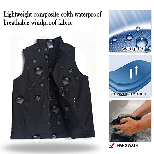 Electric Heated Jackets for Men | Heated Vest/Jacket with 3.7V Battery Pack | Keeps You Warm for Longer | Adjustable Temperature | Portable & Washable | for Indoor & Outdoor Use by Sunbond (Image #3)