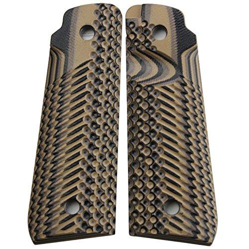 StonerCNC Ruger Mark IV 22/45 Lite Grips G10 Slash and Burn Design Fits Ruger 22 45 Lite Generation 4 Rimfire Pistol NOT for Gen 3 (Earth Camo)