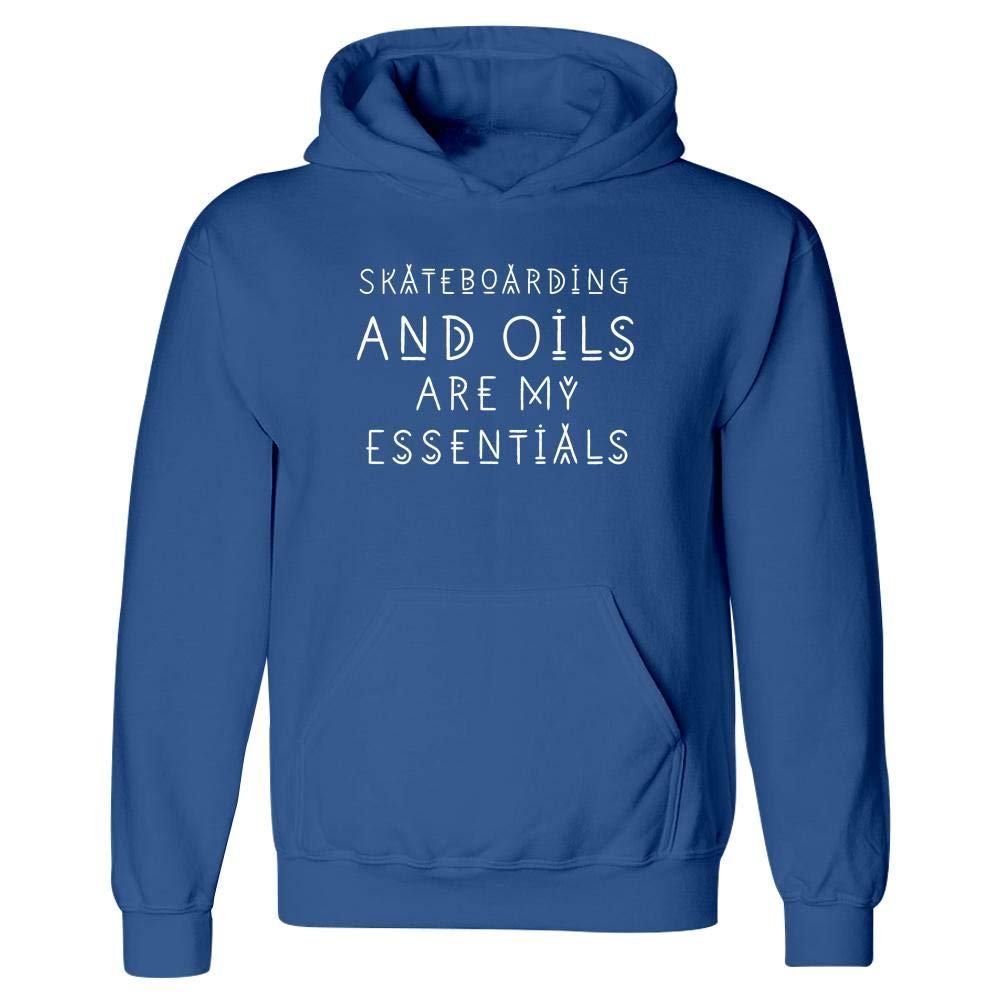 Skateboarding Lover and Oils are My Essentials Hoodie