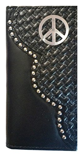 USA Pease THE Weave Checkbook Long Leather Proudly Wallet Sign Basket IN Black MADE Custom F7wx5qO5