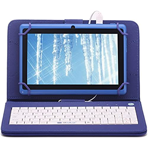 iRULU X1s 7-Inch HD TFT Display Google Android 4.4 8GB Tablet Bundle with Blue Keyboard Case Coupons