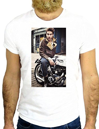 T SHIRT Z0391 BIKER COOL FASHION HANDSOME NICE SEXY MANE MODEL GGG24 BIANCA - WHITE M