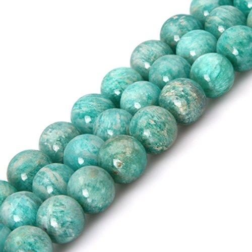 10mm Natural Semi Precious Round Brazilian Amazonite Gemstone Beads for Jewelry Making Strand 15