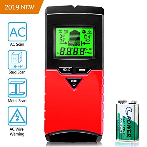 Joypea Stud Finder Wall Scanner,3 in 1 Multi Scanning Wall Sensor with Digital LCD Display Sound Warning for Studs/Wood/Metal/Live AC Wires Detection
