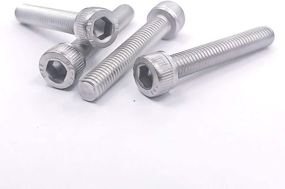 304 Stainless Steel 18-8 Bright Finish Allen Socket Drive Fully Machine Thread 50 pcs by Eastlo Fastener M5-0.8x20mm Socket Head Cap Bolts Screws