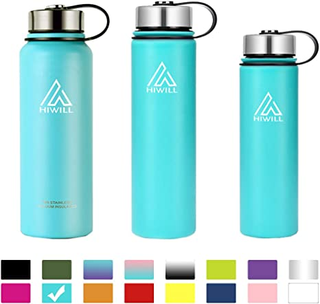 800ml 27 Oz Double Walled Stainless Steel Vacuum Bottle Leak Proof Wide Mouth Beverage Sports Bottle with Cover Great for Travel Hiking Cycling Xcellent Global Insulated Water Bottle