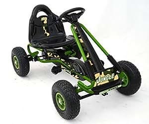 Karting a pedal Ricco Toys auto de carreras de juguete para niños con ruedas de goma: Amazon.es: Juguetes y juegos