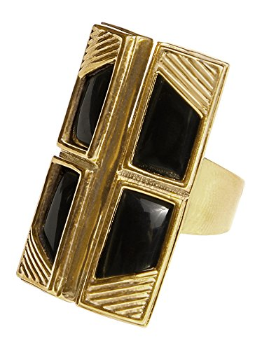 d Black Onyx Four Small Rectangle Ring ()