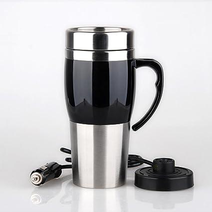 Travel Calentador de taza de acero inoxidable Cargador de acero inoxidable Cargador de cigarrillo Cargador de