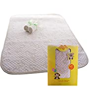 100% Organic Changing Pad Liner - Ultra Premium, No Chemical Dyes, Extra Thick, Long & Wide - Portable and Waterproof