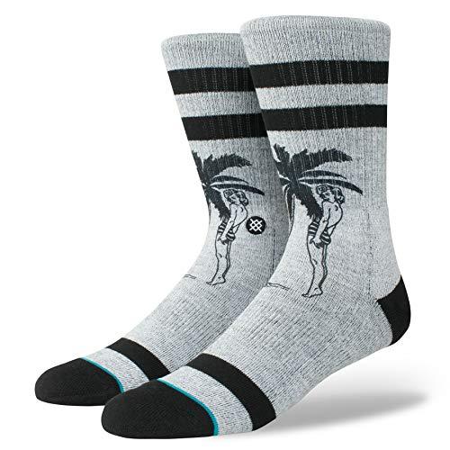 Stance Men's Cheeky Palm Socks,Large,Grey