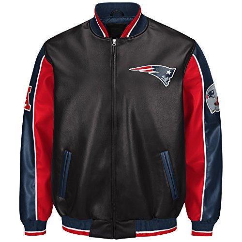 Licensed Sports Apparel New England Football Patriots Legend Faux Leather PVC Jacket - -