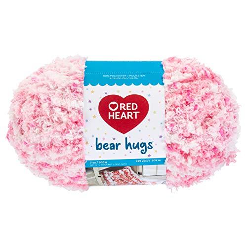 RED HEART E806.5373 Bear Hugs Yarn, Tickle Pink