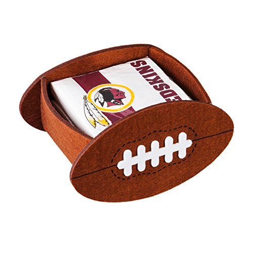 (Team Sports America Washington Redskins 50-Count Team Logo Cocktail Napkin with Felt Icon Napkin Holder Gift Set)