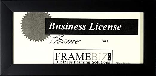 amazon com business license frame 3 3 4 x 8 1 2 business license frame 3 3 4 x 8 1 2