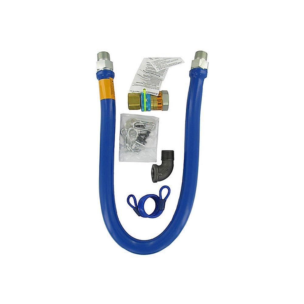 Dormont 1675BPQ48RDC 3/4'' x 48'' Gas Hose Kit with Quick Disconnect
