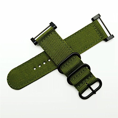 (Octane Bands Suunto Core Watch Band - Nylon Canvas Strap Replacement Kit Green - 24mm NATO Zulu Strap - Includes Lugs Adapter, Threadlocker, Screw Tools)