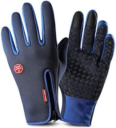 BMXの手袋は、暖かい冬の訓練の手袋を登山アウトドアスポーツの男性が画面の手袋手袋がスリップ触れます (Color : F, Size : XL)