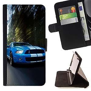 Momo Phone Case / Flip Funda de Cuero Case Cover - COBRA MUSTANG GT500 CAR - Motorola Moto E ( 1st Generation )