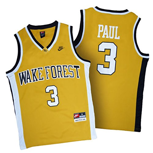 Forest Jersey (NCAA Wake Forest Demon Deacons #3 Chris Paul Gold College Basketball Authentic Jersey)