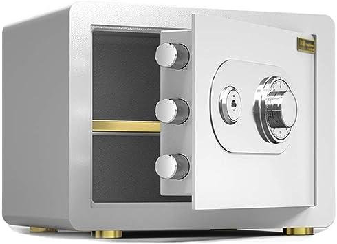 XSJZ Caja Fuerte Cajas Fuertes, Contraseña Mecánica de 25 Cm Con Caja de Seguridad Clave for El Almacenamiento de La Oficina En El Hogar Almacenamiento de Archivos En Efectivo Cajas Fuertes: Amazon.es: