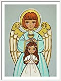 Girl first communion Angel print Girl first communion gift girl First holy communion gift for girls First communion decorations Guardian angel gifts First communion decor First communion centerpiece