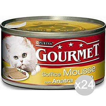 Purina Juego 24 Gourmet latas Pato Pollo Gr 195 Mousse ...