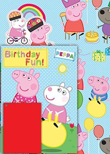 Peppa Pig Card, Gift Paper And Tag