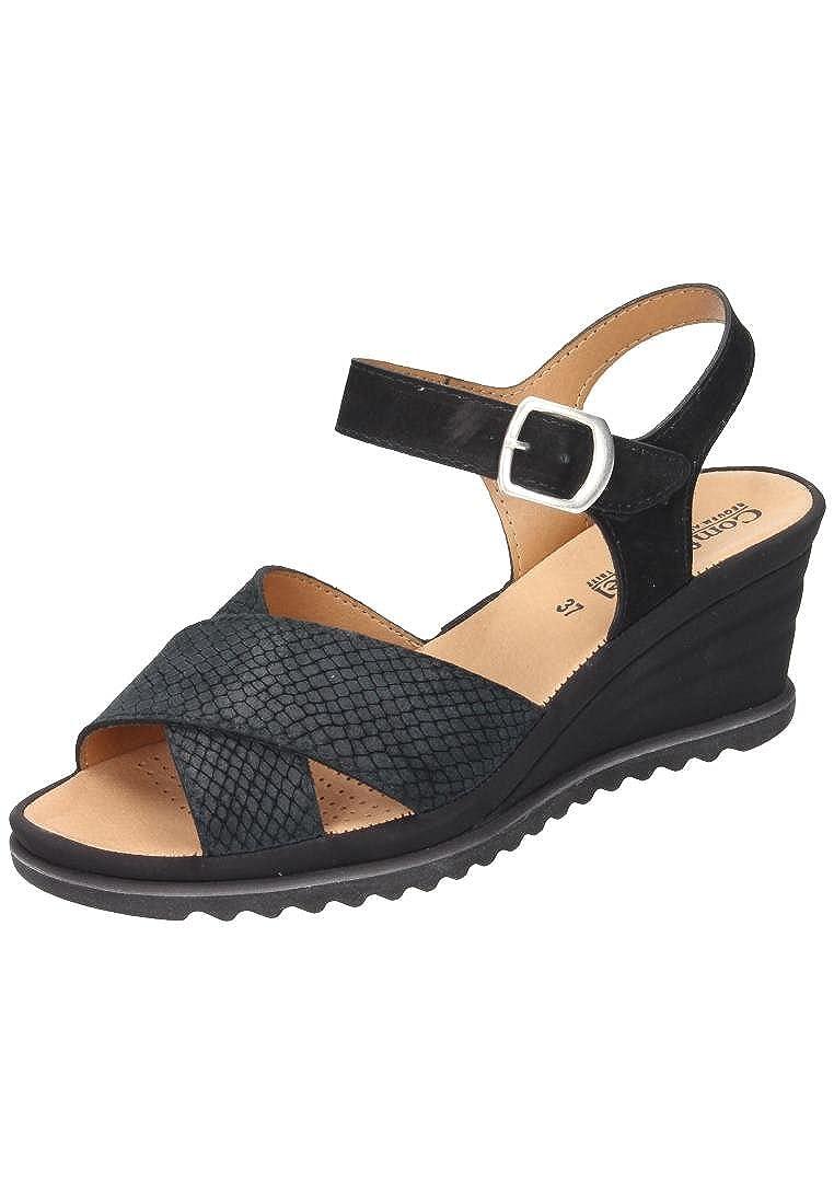 Comfortabel donna-Sandale nero 710827-1, Grösse 41