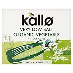 Kallo Organic Very Low Salt Vegetable Stock Cubes - 6 x 10g