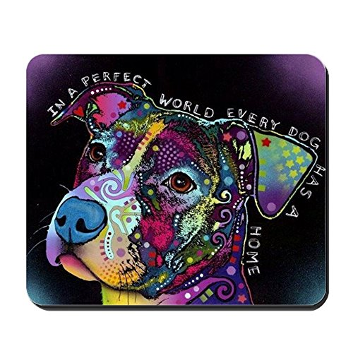 CafePress - Perfect Psycholdelic Peaceful Pit Bull - Non-slip Rubber Mousepad, Gaming Mouse Pad