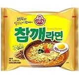 Ottogi Sesame Flavor Noodle 5ea, Chamke ramen 5ea,Korean Instant Noodle Soup Korea Ramen Ramyun by Ottogi