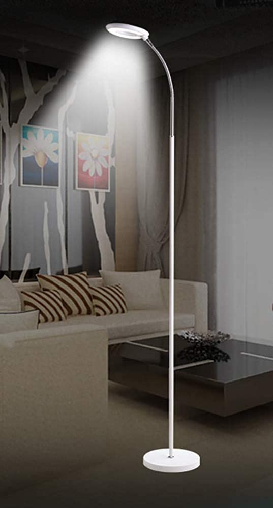 CYHY Floor lamp and floor lamp LED simple remote living floor lamp study bedroom bedside lamp stand 6w,White White