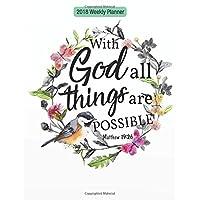 "2018 Weekly Planner: Bible Verse Quote Weekly Daily Monthly Planner 2018 8.5"" x 11""  Calendar Schedule Organizer"