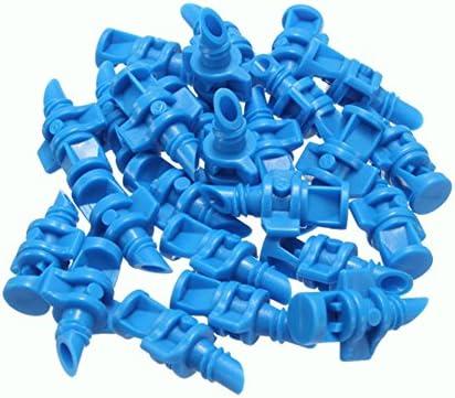 50 Stück/Set 90 Grad Sprühdüse, Mikrosprühdüse, Rasensprüher, Sprühdüse, Sprühdüse, Sprühdüse, Heimwerker-Bewässerungssystem, Tropfbewässerungsset, blau, Free Size