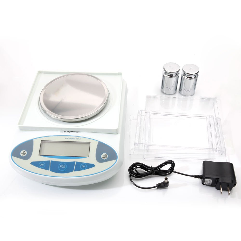 3000g/0.01g Precision Balance Scale LCD Digital Electronic Analytic Balance Scientific Lab Instrument Laboratory Scale White by Wowcool