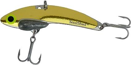 Gold Fishing Lure Bass Pike Musky Walleye Trout Salmon Striper Spoon Bait