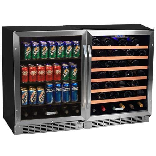 Edgestar 53 Bottle + 148 Can Side-by-Side Wine & Beverage Cooler -