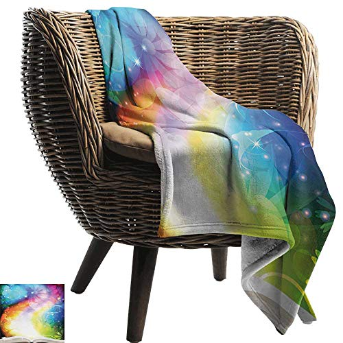 - BelleAckerman Picnic Blanket,Magical,Psychedelic Open Book of Fairy Tales on Gradient Rainbow Color Floral Background,Multicolor,Colorful | Home, Couch, Outdoor, Travel Use 70