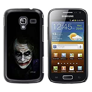 iKiki Tech / Estuche rígido - Movie Character Bat Joke Black - Samsung Galaxy Ace 2 I8160 Ace II X S7560M