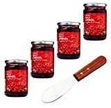 IKEA Organic Swedish Lingonberry Preserves | Jam - Bundle - With Signature Home Kitchen Spreader Knife - Pack of 4