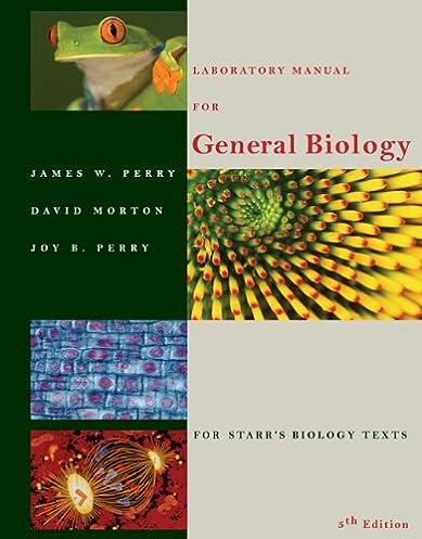 amazon com laboratory manual for general biology 9780534380250 rh amazon com MVCC Biology Lab Manual General Biology Book
