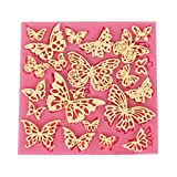 Many butterfly Silicone Fondant baking Paste Mold DIY Cake Decorating Polymer Clay Resin Candy