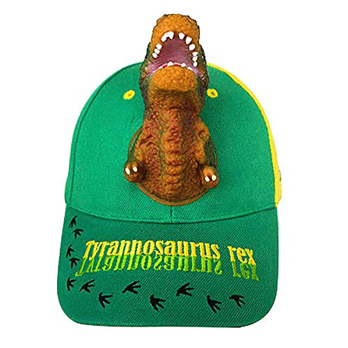 - Boy's Hats 3D T-rex Dinosaur Baseball Caps Kids Children Girl Teenager Age 5~9 Summer Sun Hats Cute Funny Animal Adjustable Unisex Sports Outdoor Hip Hop Snapback Green