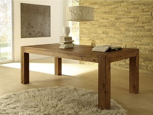 Esstisch Designer Tisch Massiv Ausziehbar 200-260X100 Cm Akazie